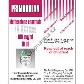 Primobolan (Метенолон, Примоболан) British Dispensary балон 10 мл (100 мг/1 мл)
