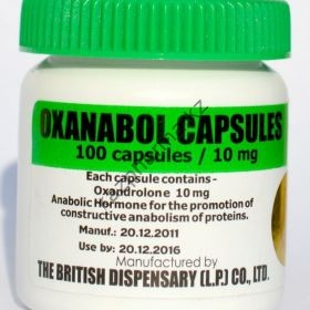 Oxanabol (Оксандролон, Анавар) British Dispensar 100 таблеток (1таб 10 мг)